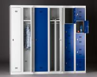 Garderobenschrank - die Zerlegten, Grundelement, 1 Abteil, HxBxT 1800 x 400 x 500 mm Lichtgrau RAL 7035