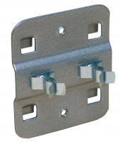 Doppelte Werkzeugklemme Alusilber RAL 9006 / 16