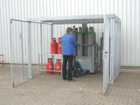 Gasflaschengestell für Gasflaschen-Container