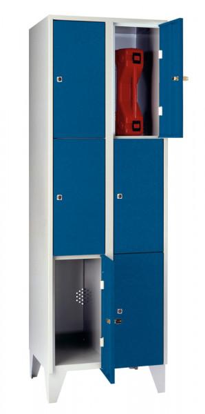 Schließfachschrank - die Praktischen, Acrylglastüren, 8 Abteile, Abteilbreite 300 mm, mit Füßen