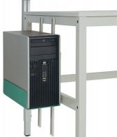 CPU-Halter für alle Arbeitstische, Packtische und Werkbänke Graugrün HF 0001