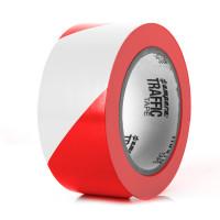 Bodenmarkierungsband Extra 50 / rot/weiß