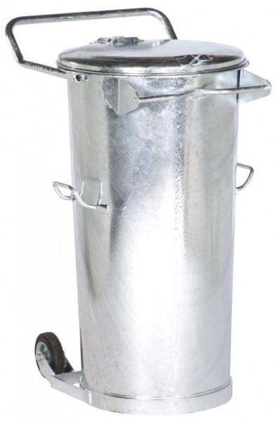 Stahlblech-Mülleimer mobil