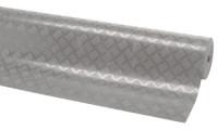 Gummibelag, Riffelblechprofil, 3 mm hoch Grau