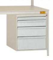 Schubfach-Unterbauten UNIDESK leitfähig, 1x50, 1x100, 1x150, 1x200 mm Lichtgrau RAL 7035