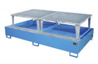 Auffangwannen für Tankcontainer und Fässer, mit Abfüllaufsatz Gelborange RAL 2000 / 2650