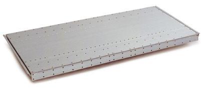Schwere Stahlfachböden, verzinkt gelocht