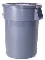 Runder Mehrzweckbehälter, Volumen 208 Liter Grau
