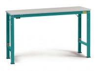 Grundarbeitstisch Kunststoff 28 mm UNIVERSAL Spezial, leitfähig 1000 / 800 / Wasserblau RAL 5021