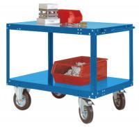 Schwerer Tischwagen TRANSOMOBIL Brillantblau RAL 5007 / 1500 x 800