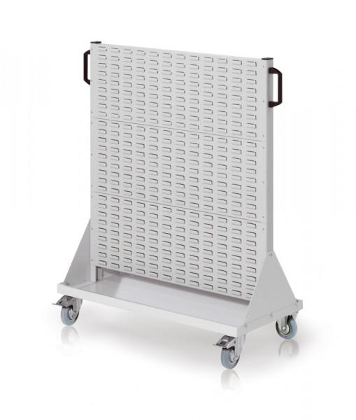 Rollwagen mit Sichtlagerkästen, Einseitig Nutzung, Höhe 1230 mm