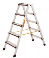 Stufen-Stehleiter beidseitig begehbar leitfähig 2x5 / 1,1