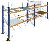 Tiefenauflagen für Palettenregalsystem 800