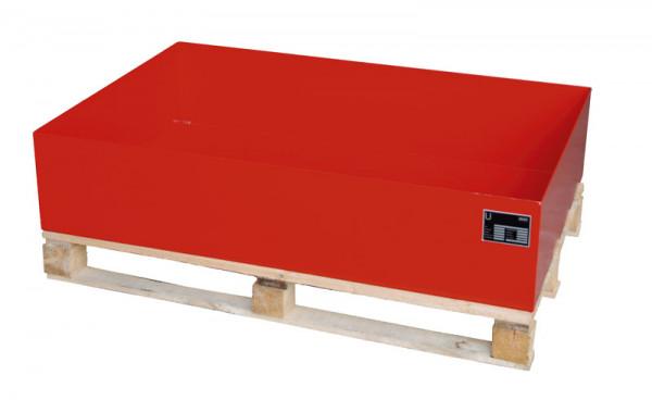 Auffangwannen für Holzpaletten, für 2x200 Liter Fässer, LxBxT 1200 x 800 x 260 mm