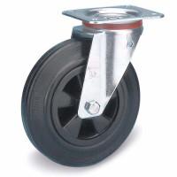 Lenkrolle auf Vollgummi-Bereifung 100 / Kunststoff