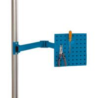 Werkzeugträgerplatten mit Doppelgelenk Schwenkausleger Brillantblau RAL 5007 / 700