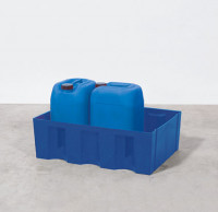 Kunststoff-Auffangwannen 220 / Mit PE-Gitterrost