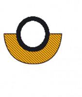 Selbstklebende Warn-und Schutzprofile/Prallschutz für Rohrschutz 30-50