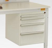 Schubfach-Unterbauten CANTOLAB leitfähig, 1x50, 1x100, 1x150, 1x200 mm Lichtgrau RAL 7035