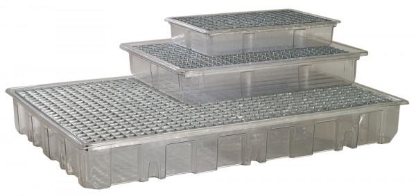 Kunststoff-Auffangwannen für Kleingebinde, aus PET-G (transparent)