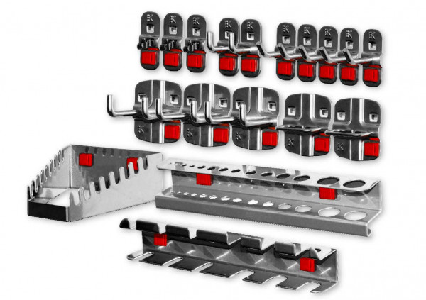 RasterPlan/ABAX Werkzeughalter-Sortiment, 18-teilig