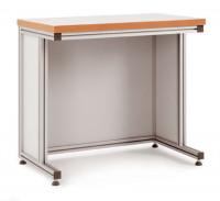 Grundpulttisch ALU Linoleum 22 mm für sitzende Tätigkeiten 1500 / 600