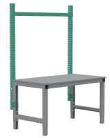 PROFIPLAN Stahl-Aufbauportale ohne Ausleger, Grundeinheit 1750 / Graugrün HF 0001