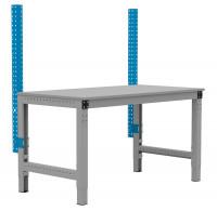 PROFIPLAN Stahl-Aufbausäulen, Grundeinheit Lichtblau RAL 5012