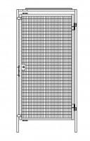 Einflügelige Tür für Trennwand-System Maschinenschutz 980
