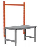 MULTIPLAN Stahl-Aufbauportale ohne Ausleger, Anbaueinheit 2000 / Rotorange RAL 2001