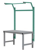 MULTIPLAN Stahl-Aufbauportale mit Ausleger, Grundeinheit Graugrün HF 0001 / 1500