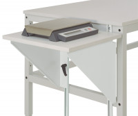 Höhenverstellbarer Tischansatz UNIVERSAL Lichtgrau RAL 7035 / 600