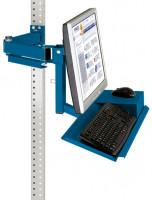Monitorträger mit Tastatur- und Mausfläche Brillantblau RAL 5007 / 75