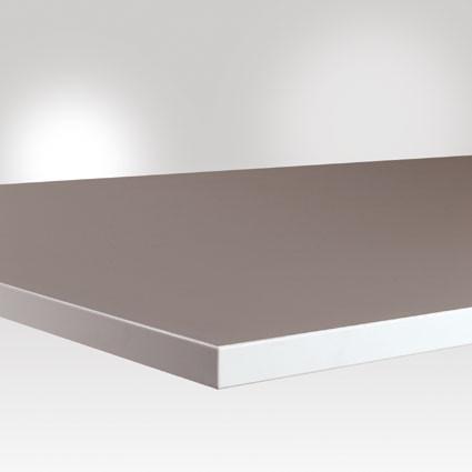 Arbeitstischplatte Kautschuk platingrau 25 mm, leitfähig