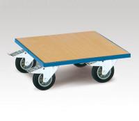 Transportroller, mit Holzladefläche Holz / 600