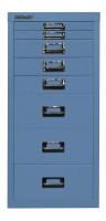 Schubladenschrank mit 8 Schubladen für DIN A4 Blau / ohne Sockel