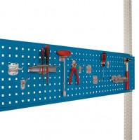 Werkzeug-Lochplatten/Lochblech für Stahl-Aufbauportale Brillantblau RAL 5007 / 1500
