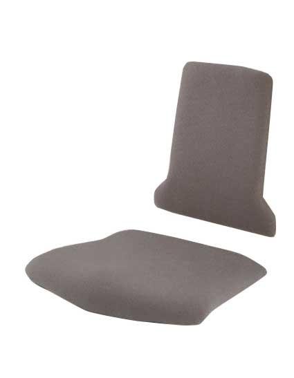 Schwarzes Sitz- und Rückenpolster aus Stoff für Arbeitsstuhl Tec-Line