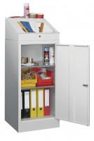 Werkzeugschrank mit Aufsatzpult Lichtgrau RAL 7035 / 2 Fachböden