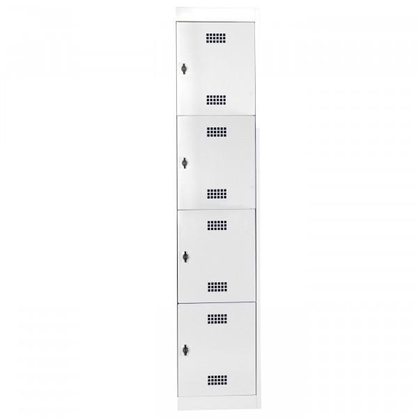 Schließfachschrank - die Zerlegten, Anbauelement, 1x4 Abteile, HxBxT 1800 x 400 x 500 mm