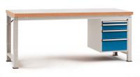 Komplettwerkbank Kunststoff 40 mm PROFI Modell 3 1500 / Lichtgrau RAL 7035
