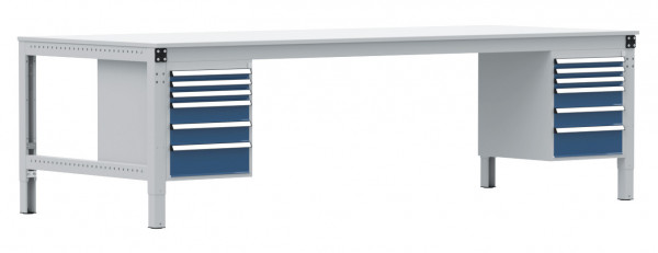 Anbauarbeitstisch MULTIPLAN Spezial Großformat, Blechbelag 22 mm