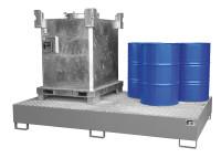 Auffangwannen für Tankcontainer und Fässer Lichtblau RAL 5012 / 2650