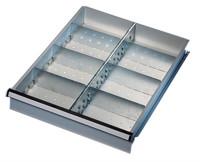 Unterteilungs-Set 2 1 Fachschiene, 2 Seitenschienen, 6 Fachteiler / 50