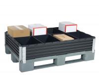 Unterteilungs-Set für Paletten Aufsatzrahmen 800 x 1200