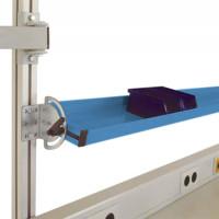 Neigbare Ablagekonsole leitfähig 1500 / 345 / Wasserblau RAL 5021