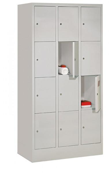 Schließfachschrank - die Bewährten, Abteilbreite 300 mm, Anzahl Fächer 4x2, mit Sockel