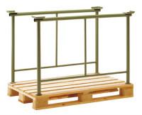 Stapelbügel mit Mittelstrebe, für Spezial Holzpaletten 1100 / 1500