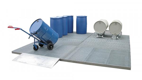 Auffahrrampe für Sicherheits-Bodenelemente