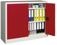 Werkzeug-Falttürenschrank mit lackierten Böden, HxB 1000 x 1500 mm 500 / Anthrazit RAL 7016